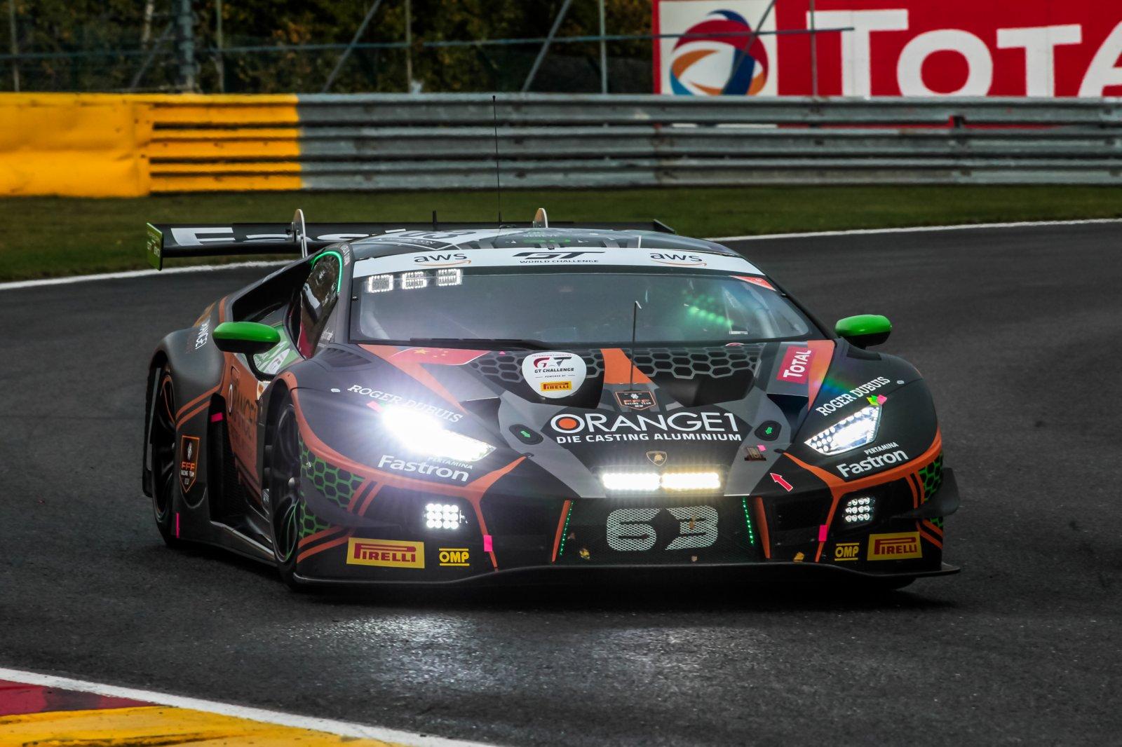 Caldarelli puts Orange1 FFF Lamborghini on top in free practice at Spa