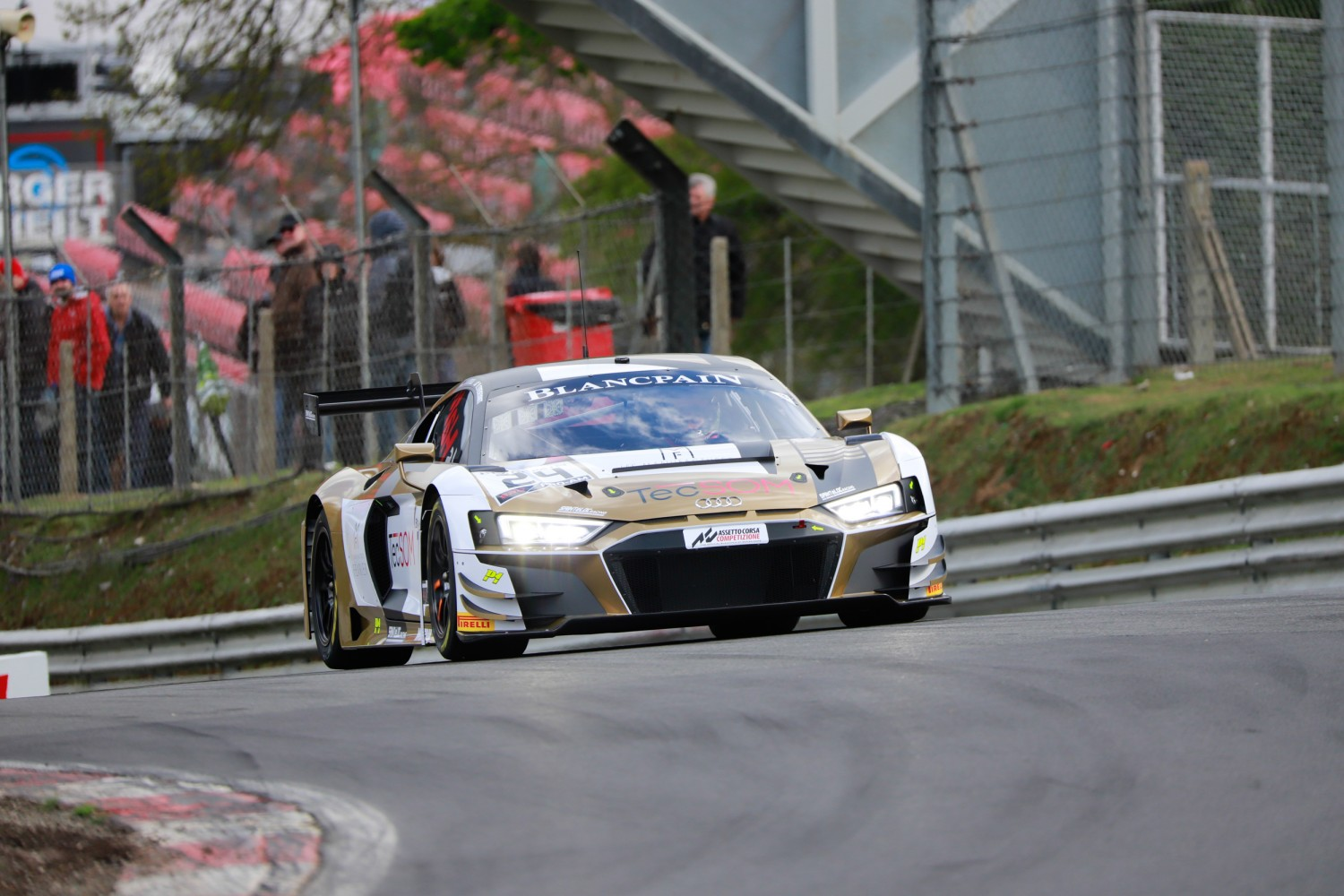 #24 Sainteloc Racing FRA Audi R8 LMS GT3 2019 Nyls Stievenart FRA Stéphane Ortelli MCO Pro-Am Cup, Cars Only  | SRO / Patrick Hecq Photography