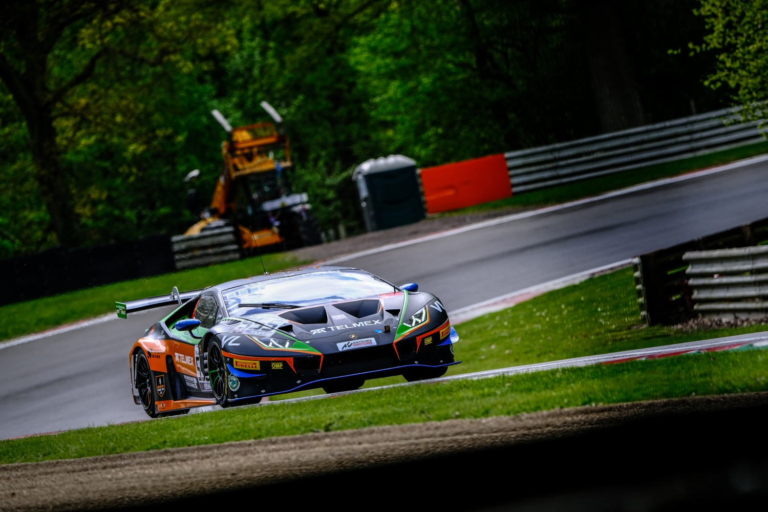 #555 Orange 1 FFF Racing Team CHN Lamborghini Huracan GT3 2019 Diego Menchaca MEX Taylor Proto GBR Silver Cup, Free Practice 1  | SRO / Dirk Bogaerts Photography