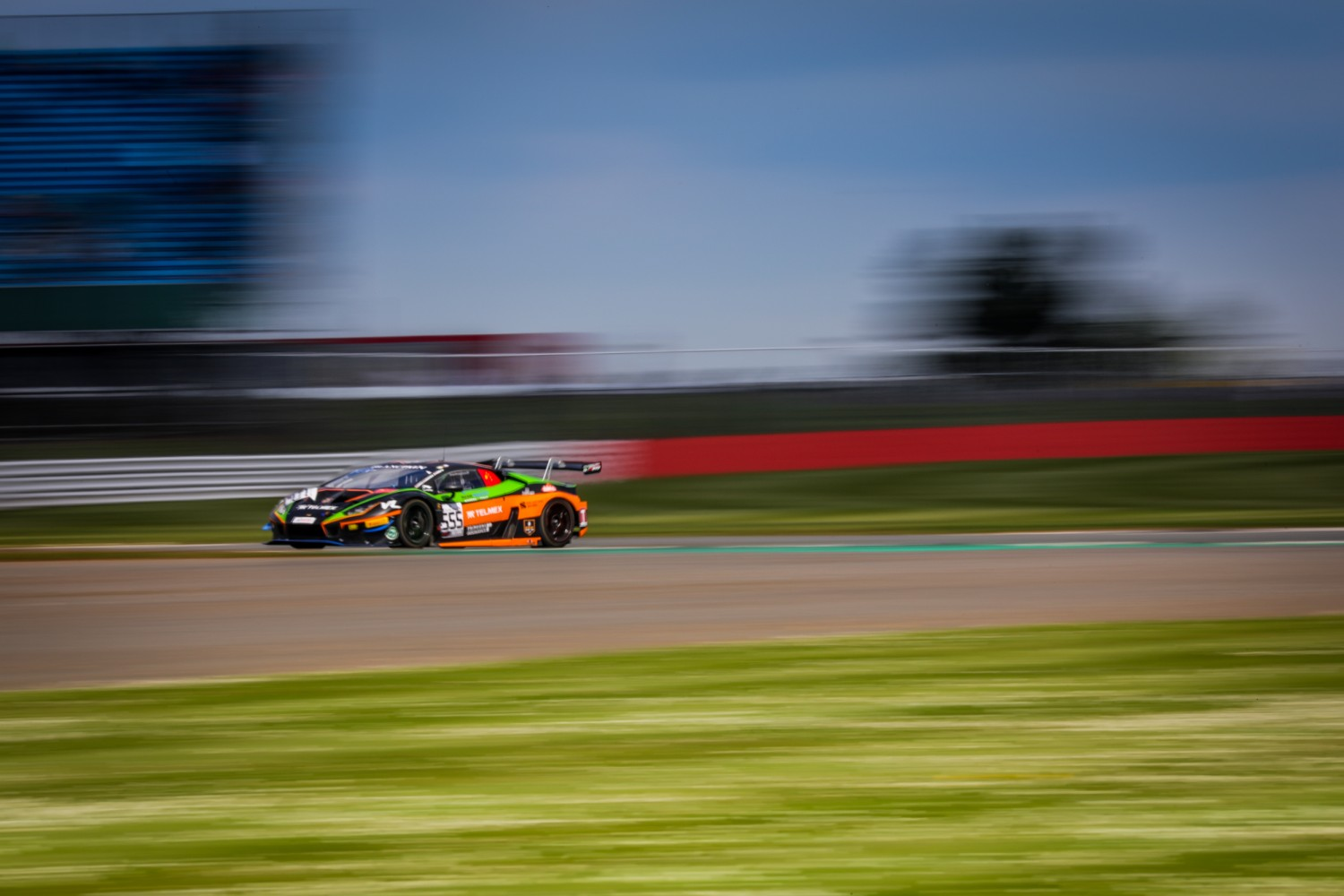 #555 Orange 1 FFF Racing Team CHN Lamborghini Huracan GT3 2019 Diego Menchaca MEX Taylor Proto GBR Michele Beretta ITA Silver Cup, Free Practice  | SRO Motorsports Group