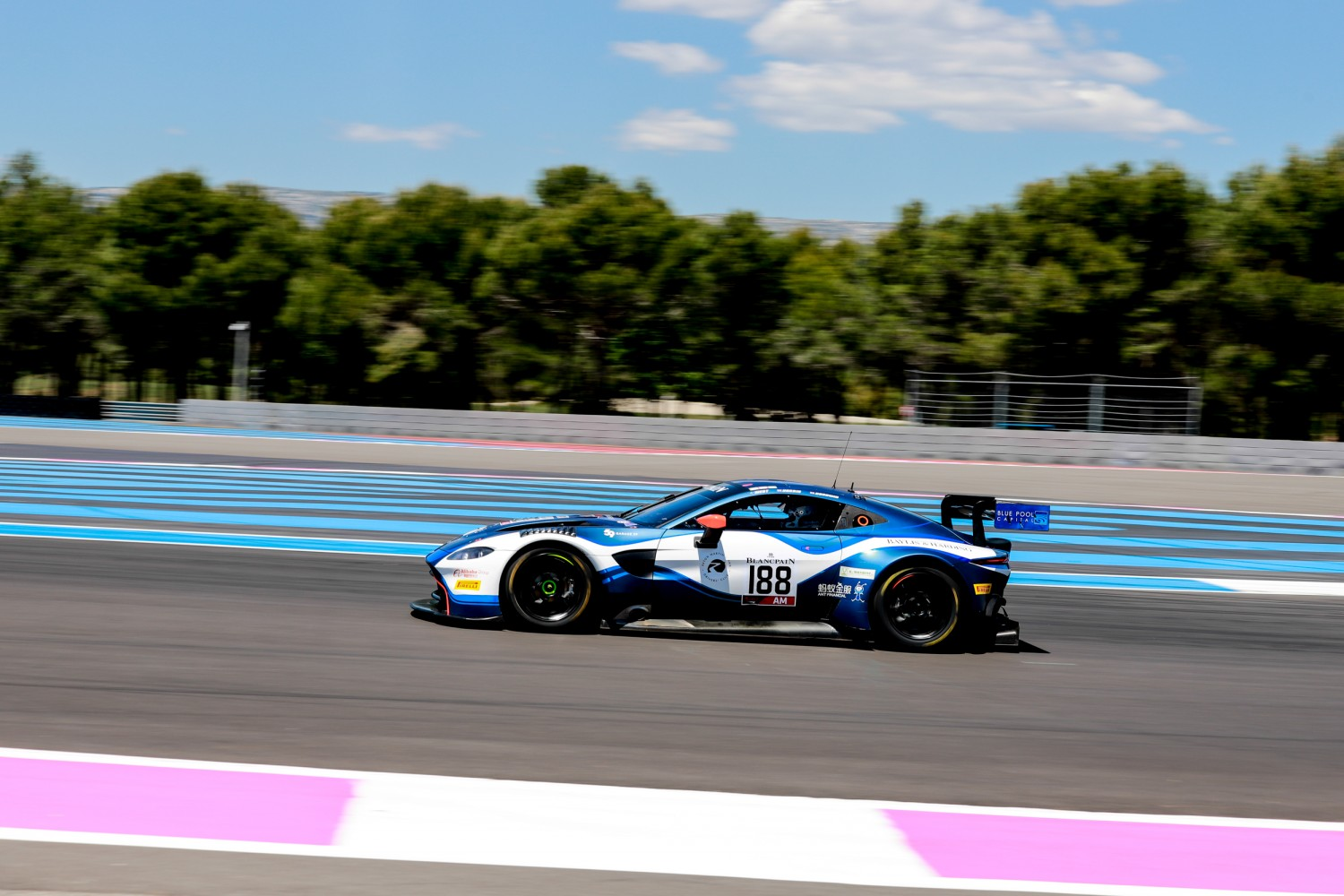 #188 Garage 59 GBR Aston Martin Vantage AMR GT3 Alexander West SWE Chris Harris GBR Chris Goodwin GBR AM Cup, Free Practice  | SRO / Patrick Hecq Photography