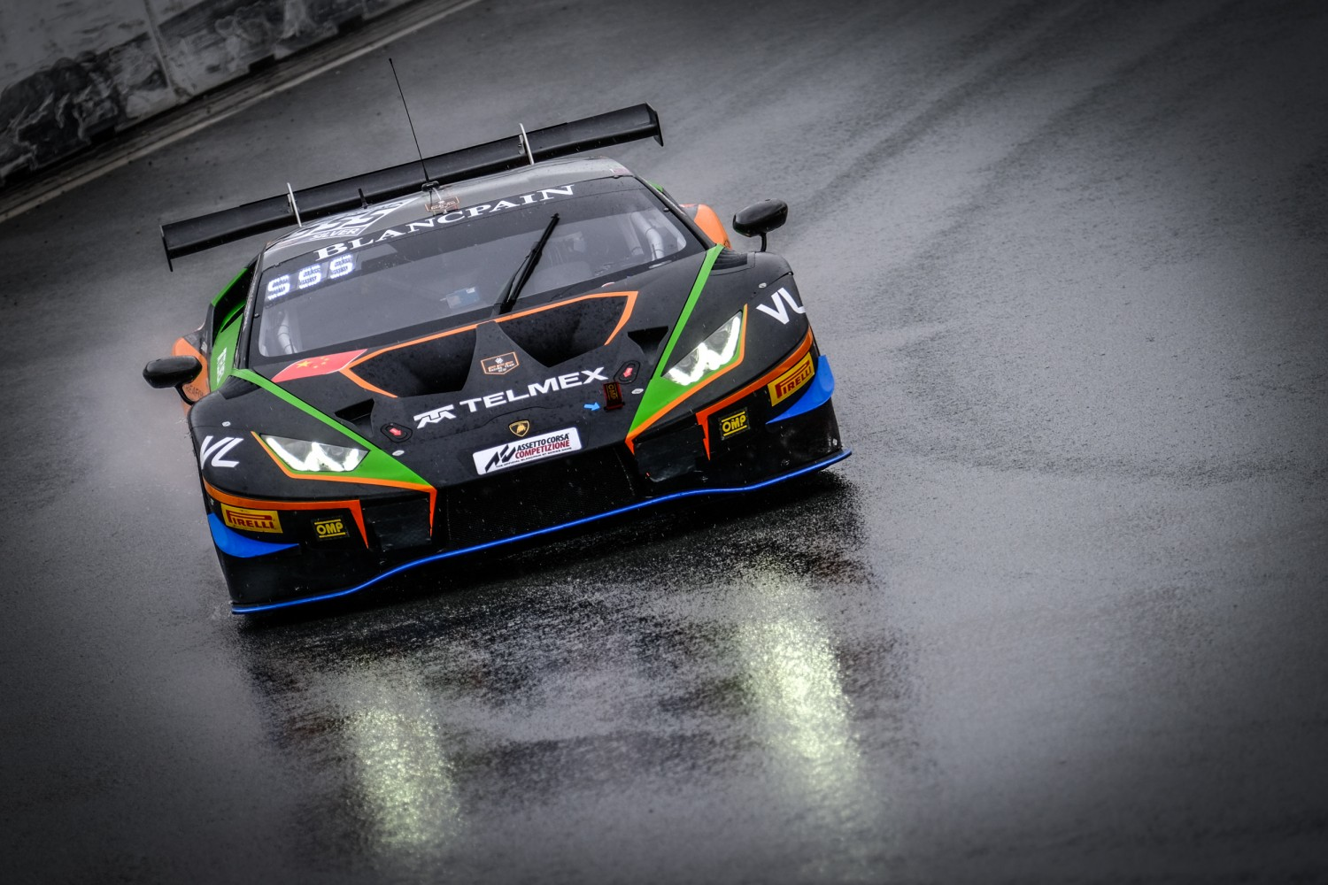 #555 Orange 1 FFF Racing Team CHN Lamborghini Huracan GT3 2019 Taylor Proto GBR Diego Menchaca MEX Silver Cup, Free Practice 2  | SRO / Dirk Bogaerts Photography