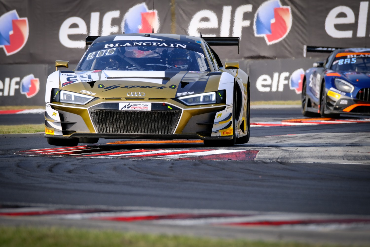 #24 Sainteloc Racing FRA Audi R8 LMS GT3 2019 Stéphane Ortelli MCO Dorian Boccolacci  FRA -, Free Practice 2  | SRO / Dirk Bogaerts Photography