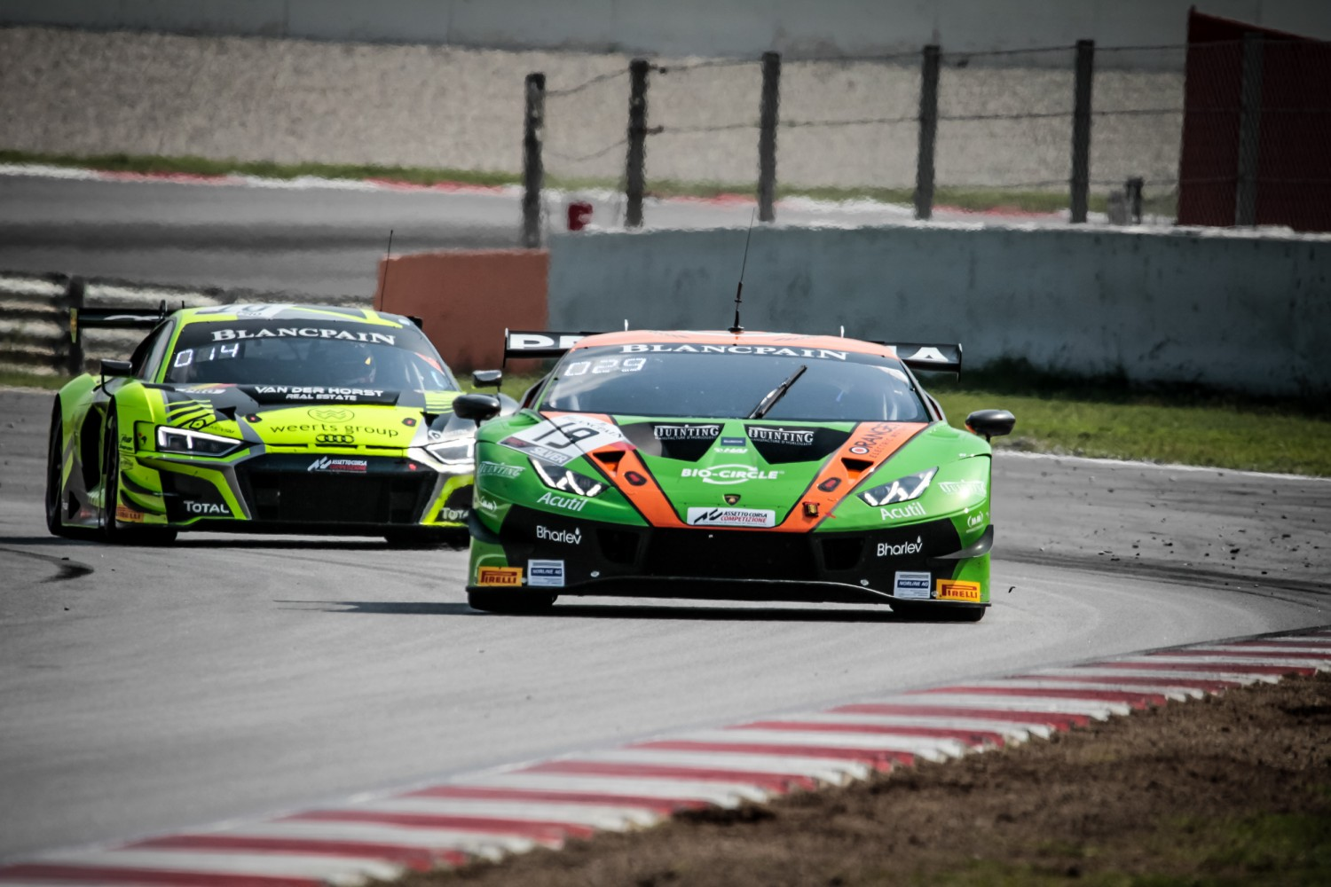 #19 GRT Grasser Racing Team AUT Lamborghini Huracan GT3 2019 Lucas Mauron CHE Gerhard Tweraser AUT Arno Santamato FRA Silver Cup, Friday Sessions  | SRO / Patrick Hecq Photography