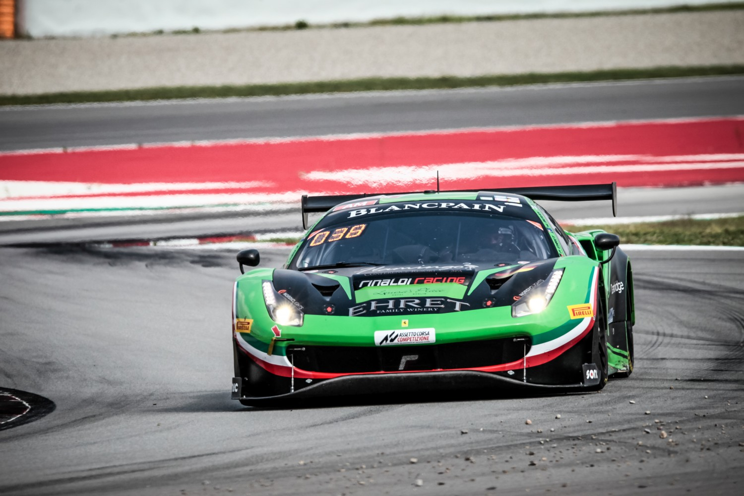 #488 Rinaldi Racing DEU Ferrari 488 GT3 Pierre Ehret DEU Martin Berry AUS Rory Penttinen FIN Am Cup, Friday Sessions  | SRO / Patrick Hecq Photography