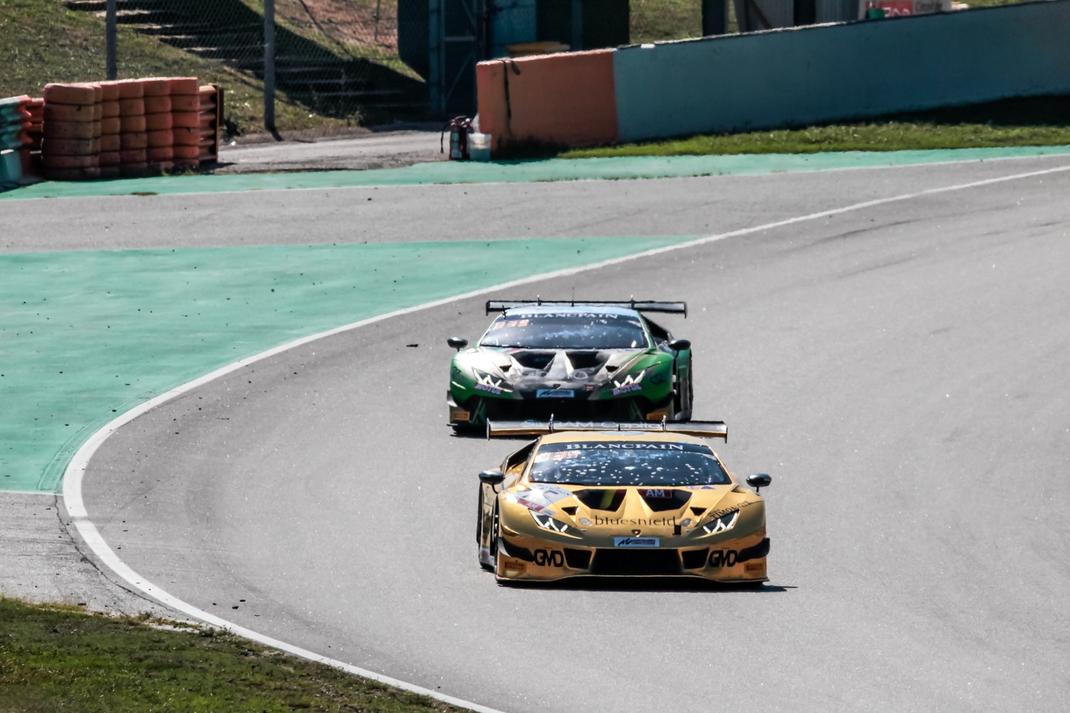 #15 Boutsen Ginion BEL Lamborghini Huracan GT3 2019 Claude-Yves Gosselin FRA Marc Rostan FRA Renaud Kuppens BEL Am Cup, Race  | SRO / Patrick Hecq Photography