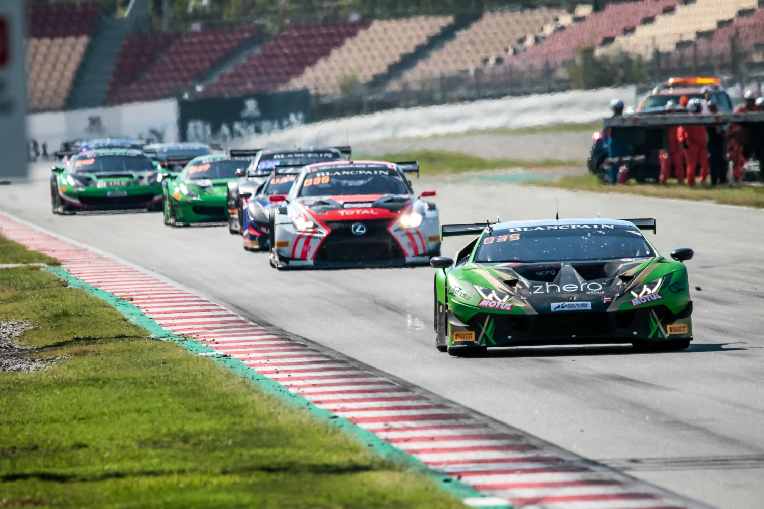 #29 Raton Racing by Target ITA Lamborghini Huracan GT3 2019 Christoph Lenz CHE Antonio Forne Tomas ESP Stefano Costantini ITA Am Cup, Race  | SRO / Patrick Hecq Photography