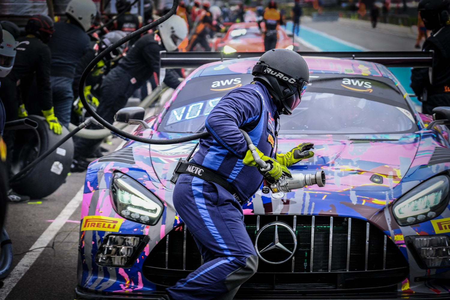 #74 Ram Racing GBR Mercedes-AMG GT3 Pro-Am Cup Tom Onslow-Cole GBR Martin Konrad AUT Remon Vos NDL, Pitlane, Race  | SRO / Dirk Bogaerts Photography