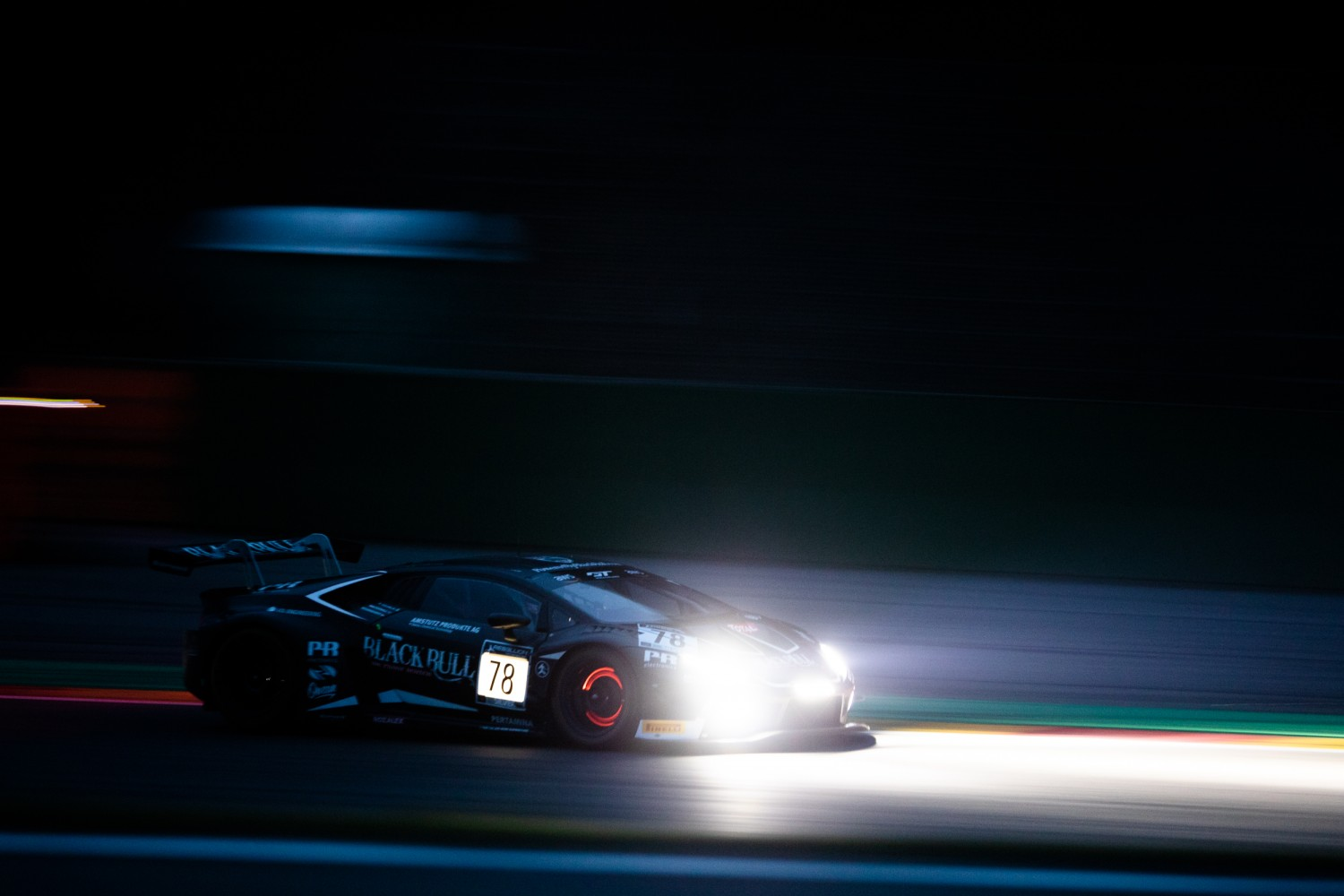 #78 Barwell Motorsport GBR Lamborghini Huracan GT3 Evo Silver Cup, Test Days Total 24H of Spa