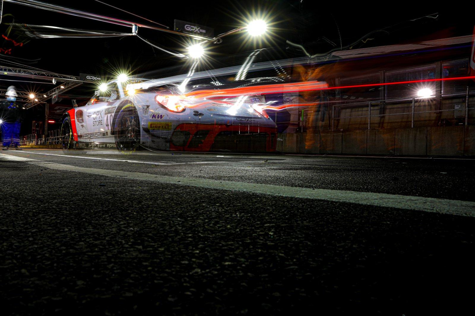 #40 GPX Racing UAE- Romain Dumas FRA Louis Deletraz CHE Thomas Preining AUT, Pitlane, Race