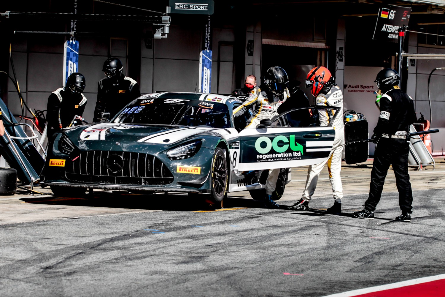 #18 ERC Sport GBR Mercedes-AMG GT3 Pro-Am Cup Lee Mowle GBR Phil Keen GBR, Pit Lane, Race 2  | SRO / Patrick Hecq Photography