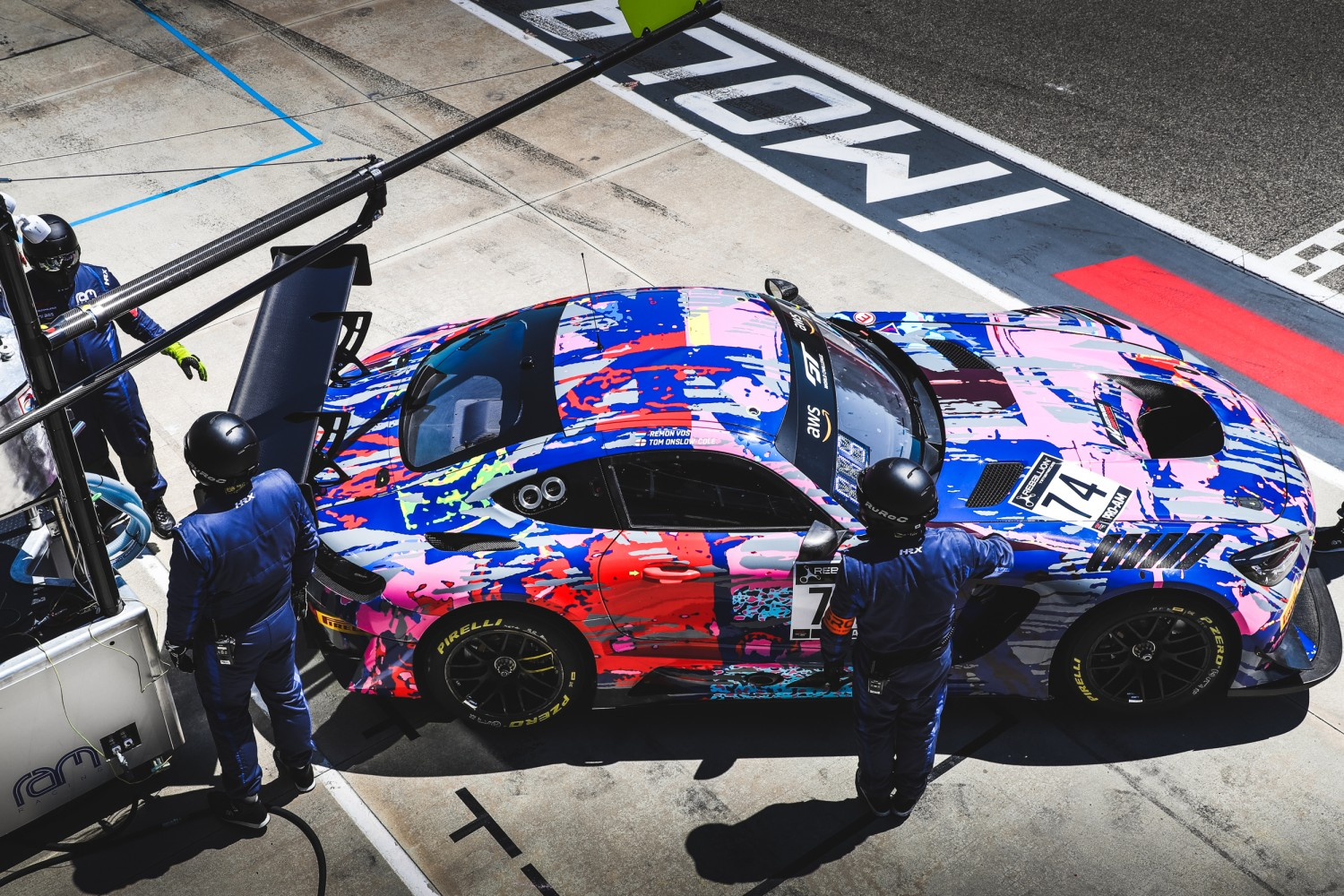 #74 Ram Racing GBR Mercedes-AMG GT3 Pro-Am Cup Remon Vos NDL - - Tom Onslow-Cole GBR, Pit Lane, Pre-qualifying  | SRO / Patrick Hecq Photography