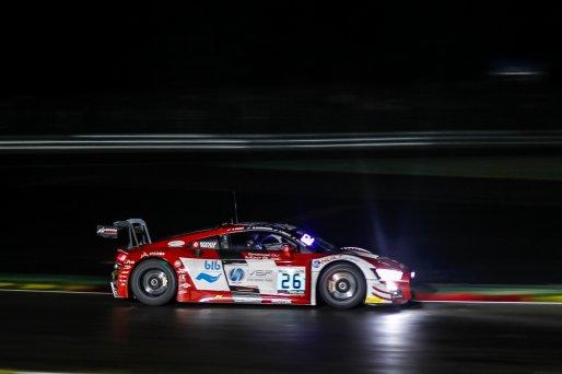 #26 Sainteloc Racing FRA Audi R8 LMS GT3 2019 Pierre Yves Paque BEL Michael Blanchemain FRA Steven Palette FRA Simon Gachet FRA Pro-Am Cup, Race  | SRO / Patrick Hecq Photography