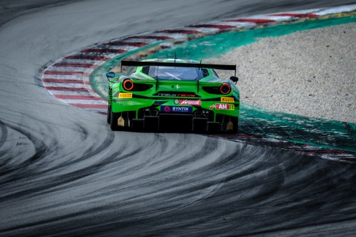 #33 Rinaldi Racing DEU Ferrari 488 GT3 Manuel Lauck DEU Christian Hook DEU Steve Parrow DEU Am Cup, Friday Sessions  | SRO / Dirk Bogaerts Photography