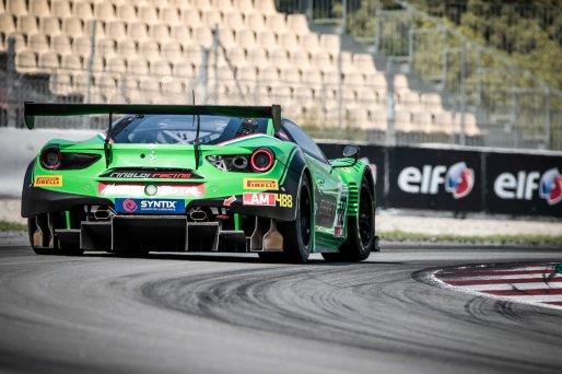#488 Rinaldi Racing DEU Ferrari 488 GT3 Pierre Ehret DEU Martin Berry AUS Rory Penttinen FIN Am Cup, Friday Sessions  | SRO / Patrick Hecq Photography
