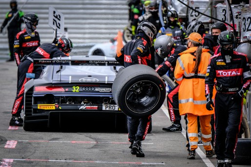 #32 Belgian Audi Club Team WRT BEL Audi R8 LMS GT3 - Dries Vanthoor BEL Christopher Mies DEU Charles Weerts BEL, Pitlane, Race  | SRO / Dirk Bogaerts Photography
