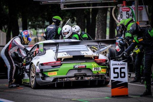 #54 Dinamic Motorsport ITA Porsche 911 GT3-R (991.II) - Sven Muller DEU Christian Engelhart DEU Matteo Cairoli ITA, Pitlane, Race  | SRO / Dirk Bogaerts Photography