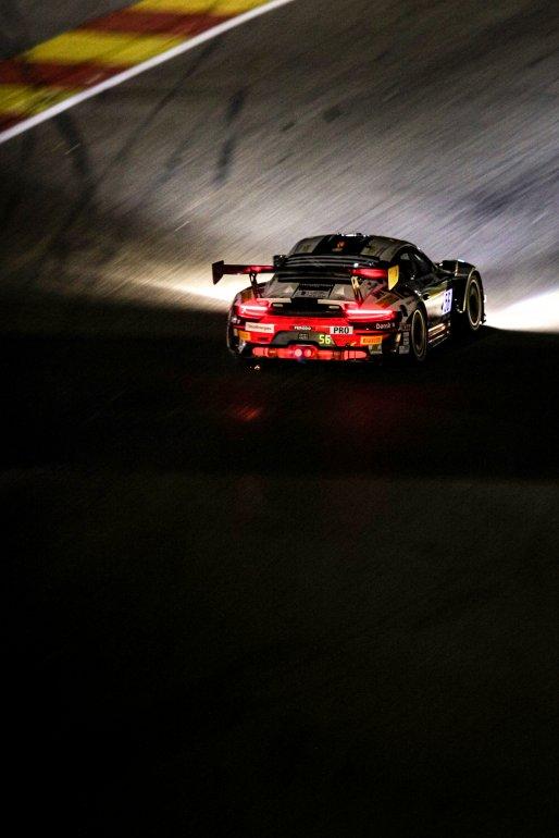 #56 Dinamic Motorsport ITA Porsche 911 GT3-R (991.II) - - Andrea Rizzoli ITA Mikkel O. Pedersen DNK Romain Dumas FRA Pro Cup, Night Practice    SRO / Kevin Pecks