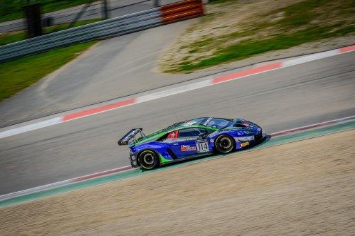 #114 Emil Frey Racing CHE Lamborghini Huracan GT3 Evo Konsta Lappalainen FIN Luca Ghiotto ITA Arthur Rougier FRA Pro Cup, Pre-Qualifying  | SRO / Dirk Bogaerts Photography