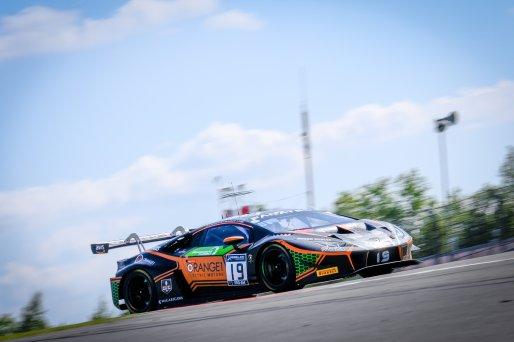 #19 Orange 1 FFF Racing Team CHN Lamborghini Huracan GT3 Evo Phil Keen GBR Stefano Costantini ITA Hiroshi Hamaguchi JPN Pro-Am Cup, Pre-Qualifying  | SRO / Dirk Bogaerts Photography