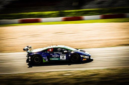 #14 Emil Frey Racing CHE Lamborghini Huracan GT3 Evo Alex Fontana CHE Rolf Ineichen CHE Ricardo Feller CHE Silver Cup, Pre-Qualifying  | SRO / Patrick Hecq Photography
