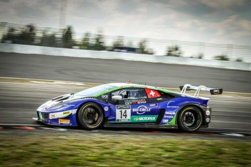 #14 Emil Frey Racing CHE Lamborghini Huracan GT3 Evo Alex Fontana CHE Rolf Ineichen CHE Ricardo Feller CHE Silver Cup, Race  | SRO / Patrick Hecq Photography