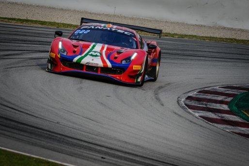 #52 AF Corse ITA Ferrari 488 GT3 Louis Machiels BEL / / Andrea Bertolini ITA Pro-Am Cup, Free Practice  | SRO / Dirk Bogaerts Photography