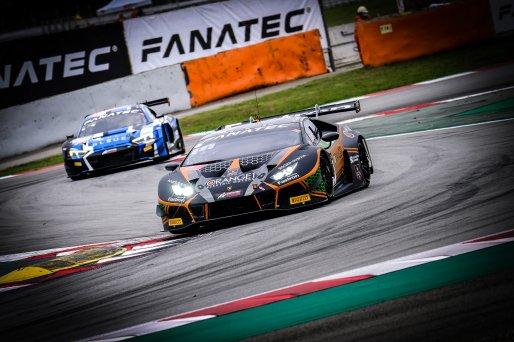 #63 Orange 1 FFF Racing Team CHN Lamborghini Huracan GT3 Evo Mirko Bortolotti ITA Marco Mapelli ITA Andrea Caldarelli ITA Pro Cup, Qualifying  | SRO / Dirk Bogaerts Photography