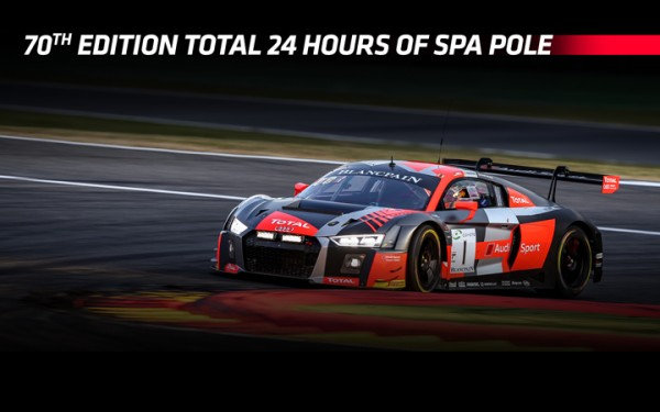 Audi Sport Team WRT takes dominant pole for 70th edition Total 24 Hours of Spa