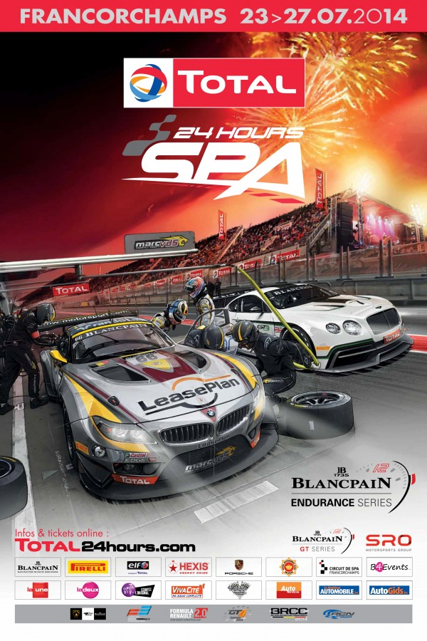 Official poster for the Total 24 Hours of Spa released